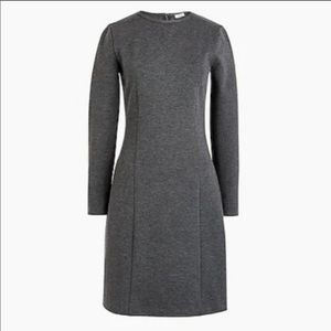 J Crew Grey Ponte Dress size 10
